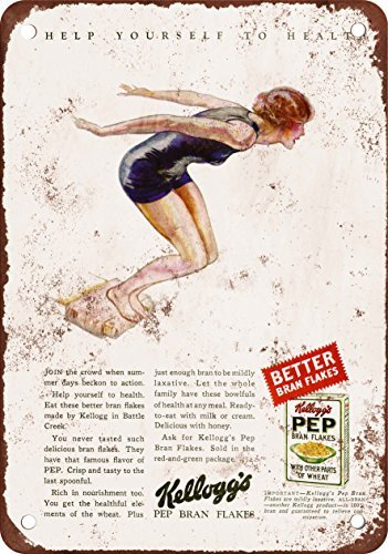 Kleie-müsli (metal Signs 1929kellogg39; S PEP Kleie Flocken Müsli Vintage Look Reproduktion Metall blechschild 30,5x 45,7cm)
