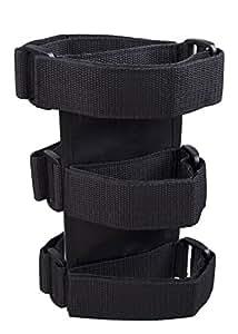 SPLHMILY Supporto per estintore antincendio nera, custodia porta-estintore regolabile in nylon, cinturini per TJ YJ JK CJ Jeep Wrangler
