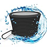 Bluetooth Shower Speaker, Portable Wireless Waterproof and Rugged. (Black)