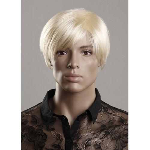 Loutoff Perücke Haar Wigs Männlich Männer Blond Kurz (Perücken Männlich Blonde)
