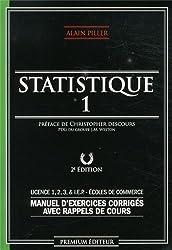 Statistique I (Deuxième édition) - Manuel d'exercices corrigés avec rappels de cours