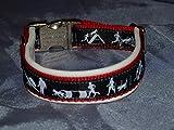 Hunde Halsband Agility schwarz weiß