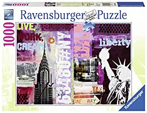 Ravensburger - Collage de New York, Rompecabezas de 1000 Piezas, 70 x 50 cm (196135)