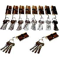 10 er Sicherheit Schliesszylinder Tür Schloss Set + 50 Schlüssel Gleichschliessend NEU