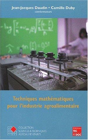 Techniques mathématiques pour l'industrie agroalimentaire