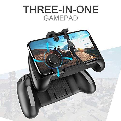 KOBWA Mobile Game-Controller, 2018 PUBG Game Pad Handgriff Joysticks Game Controller Sensitive Shoot Ziel für Fortnite/Regeln des Survival/Messer Out für Android iOS (Stand Up-video-spiel)