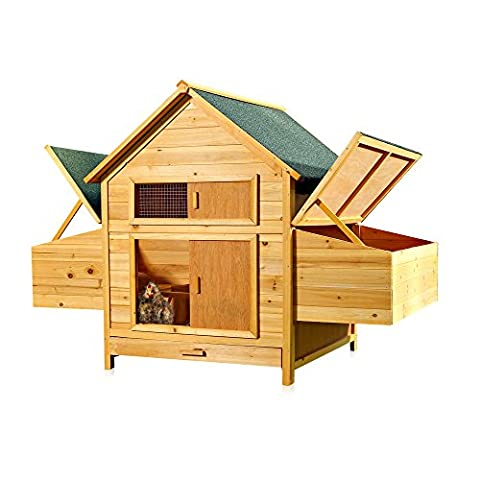 XXL Hühnerstall Hühnerhaus Kaninchenkäfig Hasenstall Kaninchenstall für draußen