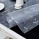 PVC-Transparente tischdecke,Wasserdicht Anti-verbrühende Isolierte Spitze Tischdecken,Couchtisch-untersetzer,Für Hotel Küche Partei-A 90x160cm(35x63inch) - 3
