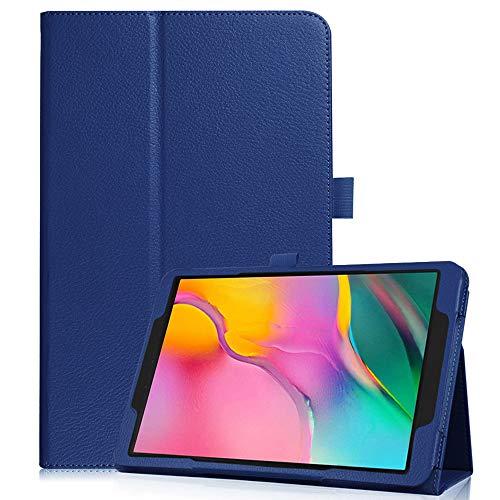 """Dkings Für Galaxy Tab A 10.1\"""" Hülle - Stand Tablette, Hülle für Samsung Galaxy Tab A 10.1 Zoll Tablette 2019 (SM-T510 / T515),Klappbarer Folio-Deckel aus PU-Leder, Kartentasche (Dark Blue)"""