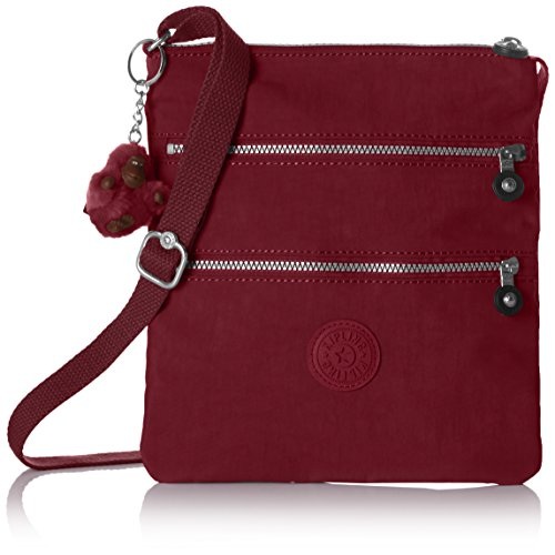Kipling NEW Rizzi, Borsa a Tracolla Donna, Rosso (A12 Crimson), 18.5x23x2.5 cm (B x H x T)