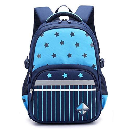 XHHWZB Jungen Rucksack Kinder Rucksack Lässig Daypack Bookbag für Elementary (Farbe : Blau)