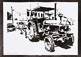 John Deere Traktor Poster Plakat Handmade Graffiti Street Art - Artwork