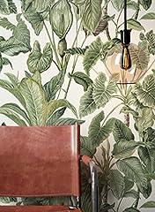 Idea Regalo - NEWROOM carta da parati verdi carta colorato Floral bella moderna e nobile design moderno e nobile ottica, inclusivi Guida alla tappezzeria
