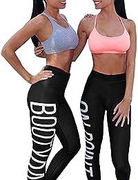 e2b18b271 Logobeing Mujeres Entrenamiento Leggings Fitness Gimnasio Deportivo Running  Yoga Pantalón Atlético ...
