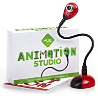 Studio d'animation HUE (Rouge) : kit d'animation Stop Motion Complet - caméra Incluse - Fonctionne sous Windows et macOS