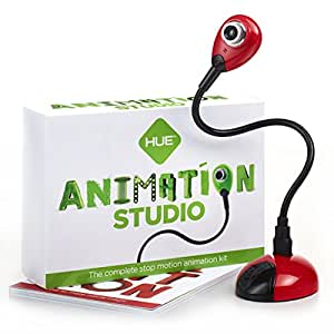 HUE Animation Studio (Red) for Windows PCs and Apple Mac OS X: complete stop motion animation kit with camera, software and book
