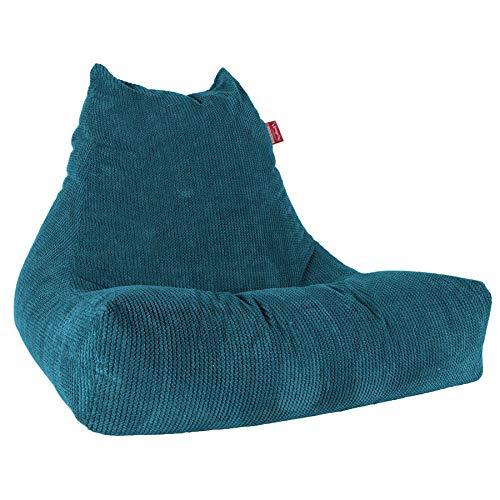 Lounge Pug®, Riesen Sitzsack Lounge Sessel, Pom-Pom Türkis