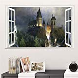 Magic Poster 3D Hogwarts Dekorative Wandaufkleber ( 60X90Cm) Wizarding World School Wallpaper Für Kinder Schlafzimmer Aufkleber