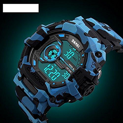 Skmei Multifunction Chronograph Military Blue Dial Digital Sports Men's Watch -1233