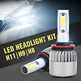 Linterna del coche del CREE LED de 300W 200W S2 LED H8 / H9 / H11 Bombilla del halógeno incorporada Ventilador de enfriamiento 6500K Blanco LD1053