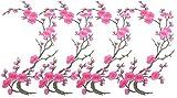 Aufnäher Blume 4 Stück DIY Blume Stickerei Applikation Patches Rosen Aufnähen Aufnäher Blumen Dekoration Handwerk für Kleid Hut Schuhe T-Shirt Jeans