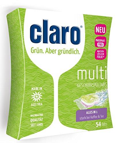 Claro ÖKO 2020 Multi Tabs, chlor- und phosphatfrei, in wasserlöslicher Folie - 54 St.