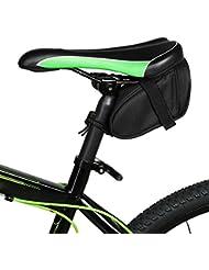 MMRM Sacoches de Vélo Sac de Selle Étanche Réfléchissant Paquet de Queue de Vélos Accessoires de Vélo - Noir
