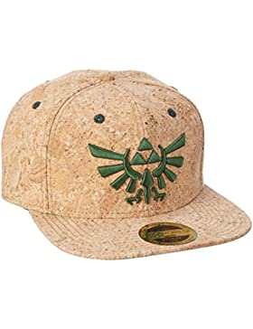 The Legend of Zelda Snap Back Cap Triforce Logo Cork Bioworld Nintendo Berretti Cappelli