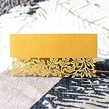 Protection de l'environnement matériel 50 cartes de siège de fête de mariage cartes de nom de nom doré cartes de motif de fleur...