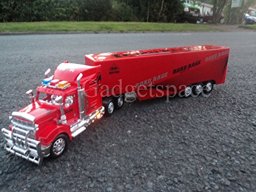Giant American Large Truck Lorry 59cmL Radio Remote Control Car Headlights NEW RED OR YELLOW by Action Force Ltd