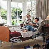 Bett Sonata Pack C: elektrischer Lattenrost + Latten aus Holz + verstellbare Füße + Sabrine