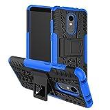 GOZAR Xiaomi Redmi 5 Plus Funda, Carcasa Protectora Antigolpes Armadura Doble Capas a Prueba de Choques Caída Protección Robusto con Soporte Case Color Azul