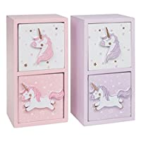 Amaal Trading Lullaby Unicorn 2 drawer chest (Pink or Purple) Child