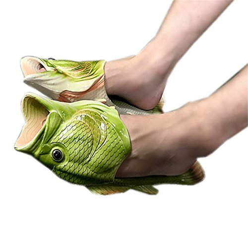 Lalang Fisch Hausschuhe Sommer Strand Pantoffeln Kreative Gift Eltern-Kind Liebhaber Gift Strand Pantoffeln für Damen & Herren Geburtstagsgeschenk (38/39 EU) - 2