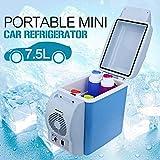 FAINLIST 7.5L Portable Mini Car Fridge Freezer Cooler Warmer 12V Camping Travel Refrigerator