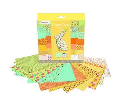 Avenue Mandarine OR505O (Origami Papier Set, 20 x 20 cm, 60 Blatt, 70 g) bunt / frühling
