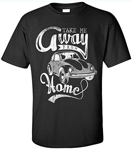 PAPAYANA TAKE-AWAY - Herren T-Shirt - OLD SCHOOL OLDTIMER KULT RETRO CAR AUTO HIPPIE Schwarz