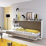 Funktionsbett Susi 90 * 200 cm weiß Klappbett Gästezimmer Jugendzimmer
