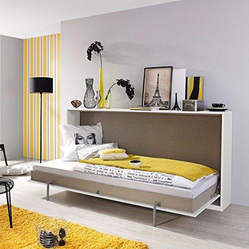 Funktionsbett Susi 2 90*200 cm weiß / grau Schrankbett Klappbett Raumsparbett Kinderbett Jugendliege Bettliege Gästebett Kinderzimmer - 2