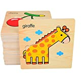 Mamimami Home Baby 3D Cartoon Puzzle Puzzle Holzspielzeug Karikatur Tier Puzzles Kindererziehung Spielzeug für Kinder Montessori Spielzeug Puzzle