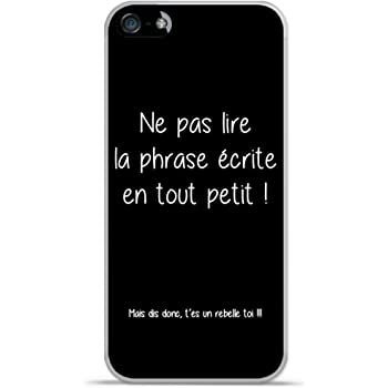Coque Tpu Gel Souple Apple Iphone 5 5s Design Citation Rebelle