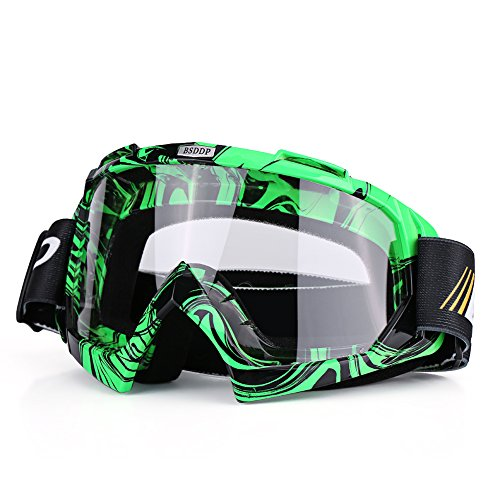 Qiilu Dirt Bike Occhiali da Sole di Protezione Maschera Occhialoni per Attività Esterna Motociclett