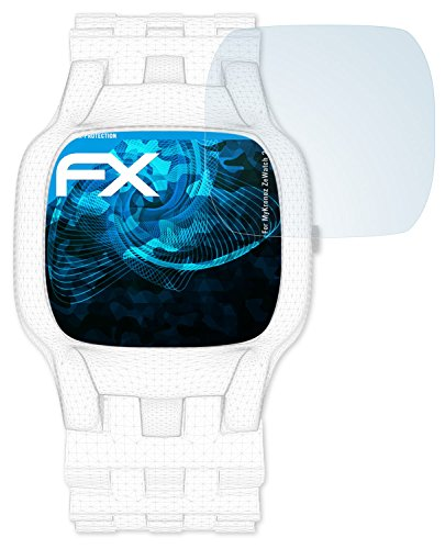 atFoliX Schutzfolie kompatibel mit MyKronoz ZeWatch 2 Folie, ultraklare FX Displayschutzfolie (3X)