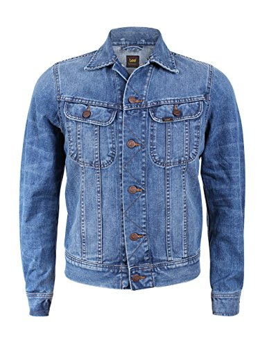 Lee Herren Jeansjacke Rider - Slim Fit, Größe:S, Farbe:True Authentic (HX) (Jeans-jacke Lee)