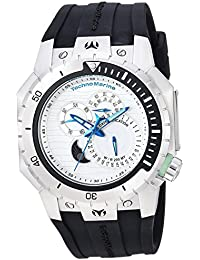 Technomarine Women's 'Manta' Quartz Stainless Steel and Silicone Casual Watch, Color:Black (Model: TM-216008)