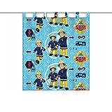 Herding Vorhang Feuerwehrmann Sam, Polyester, Mehrfarbig, 160 x 140 cm