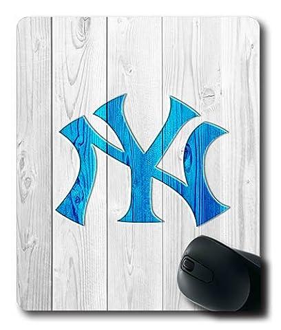 Wood NY Yankees Eembossed Bleu Custom Chiffon Top Gaming Mouse Pad/Tapis de souris en caoutchouc antidérapant Base 220* 180* 3mm