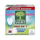 L'arbre vert Tablettes Lave Vaisselle Hydrosolubles 30 Tablettes 547,5 g