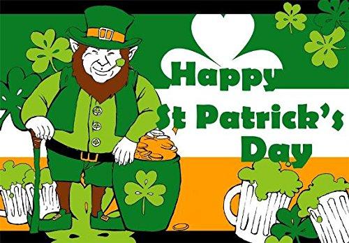 Happy St Patrick 's Day Leprechaun Flagge-Große 5x 3'- Saint Patrick Patricks Irische Irland flagsuperstore© (Patrick S Leprechaun St)