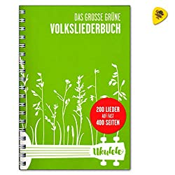 Das Große Grüne Volksliederbuch fur Ukulele - 200 Lieder - Songbook mit Dunlop Plek - Verlag Bosworth BOE7890 9783865439857